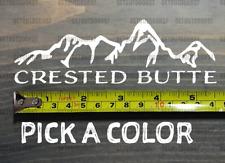 "Crested Butte Sticker Decal 5.5"" Mountain Ski Colorado Crusty Butt Xo"