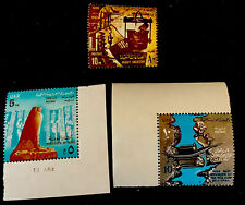 1964 Egypt Stamps.  Nile Dam,nubia Monument .heavy Industry.  Mnh