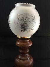 Tischlampe Tischleuchte Nachtischlampe Schreibtischlampe Antikstill Glasschirm 1