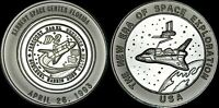 """NASA KENNEDY SPACE CENTER LIMITED ED. COIN """"1993 THE NEW ERA SPACE EXPLORATION"""""""