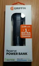 Griffin Reserve 2,500mAh Powerbank Up-to 1 Extra Phone Charge - Black