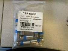 Package of 10 Binary Male F Compression Connector Bc3-F-Rg6Q