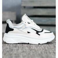 SHELOVET deportes zapatos de mujer mujeres blanco negro paño
