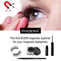 NEW Phoera Magnetic Liquid Eyeliner Gel False Eyelashes 3D Eye Lashes Makeup TY1