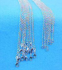 """Wholesale 10PCS 30"""" Jewelry 925 Silver Plated Rolo """"O""""Words Chain Necklace"""