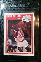 1989 FLEER #74 REGGIE WILLIAMS ROOKIE CARD RC LOS ANGELES CLIPPERS MINT