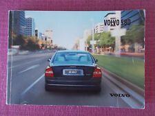 VOLVO S80 SALOON (2002 MODEL YEAR) USER MANUAL - OWNERS HANDBOOK.  (YJL 1690)