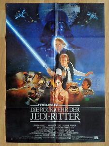 RÜCKKEHR DER JEDI RITTER - seltenes Din A1 Plakat STAR WARS 1983 Erstaufführung