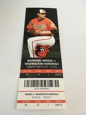Garcia Win Johnson Save May 30 2013 5/30/13 Orioles Nationals Full Ticket