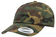 Adjustable Low Profile Unstructured Cotton Cap Dad Hat Flexfit Yupoong 6245CM