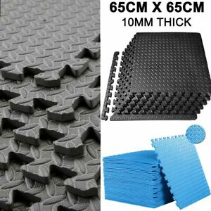New Interlocking Soft Foam Floor Mats EVA Puzzle Rubber Yoga Tiles Gym Flooring