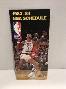 1983-84 NBA Schedule Book w/Kareem Abdul-Jabbar/Moses Malone