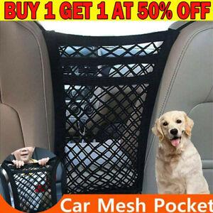 3 Layer Car Seat Hanging Bag Mesh Pocket Net Storag Tidy Organiser Nylon Holder