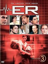ER - The Complete Third Season (DVD, 2005, 6-Disc Set) George Clooney