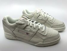 c709aaa5694 Reebok Womens Workout Lo Plus Classic Sneaker Size 11 US White Practical  Pink
