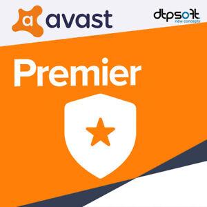 AVAST Premium 2021 10 PC's 10 Devices 3 YEARS 2020 avast! US