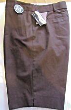 LAURA SCOTT WOMEN'S BROWN SLIM TUMMY GREAT FIT CAPRI SHORTS, SIZE 18 NWT