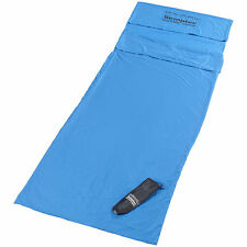 Hüttenschlafsack: Hütten-Schlafsack aus Mikrofaser, Rechteckform