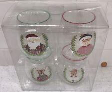 NEW Set 4 Mr/Mrs Santa Claus & Reindeer 🎅🏼 Acrylic Christmas Wine Glass Target