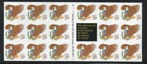 ALLY'S STAMPS US Scott #2595a 29c Eagle, Brown B/P [17] MNH [BP-3c]
