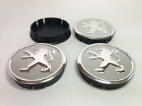 4st x Aluminium Nabenkappen Radkappe Alufelgen 60mm/55mm für PEUGEOT
