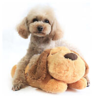 Cute Heartbeat Puppy Behavioral Training Toy Plush Pet Snuggle Sleep Soft