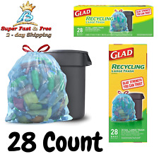 Blue Recycling Bag 30 Gallon Home Disposable Supply Garbage Trach Bag 28 Count