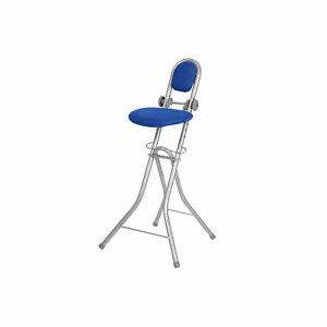 Bügelstehhilfe Stehhilfe Stehstuhl Stehsitz Bügelstuhl höhenverstellbar blau