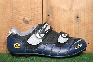 SHIMANO SPD SH-M082B Blue, Black & Silver Bike Cycling Shoes EUR 41 | US 7.5 Men