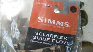 Simms SolarFlex Guide Gloves, Large, River Camo , NWT's