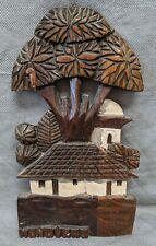 Solid Wood Carving Honduras Treehouse? Church? BEAUTIFUL DESIGN 13 inch