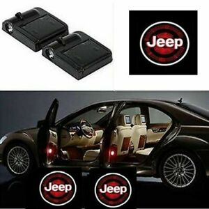For Jeep Courtesy Door LED Logo Projector Light 2Pc Welcome Light Wrangler Rubic