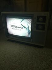 "Vintage Montgomery Ward Color 13"" TV Television Wood Grain Works !"