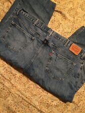 Levis 559 Men's Blue Jeans Size W48 L Classic Straight Leg Altered To Shorts