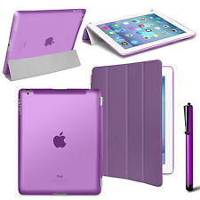 Slim Flip Magnetic Leather Smart Cover Hard Back Case For Apple iPad 4 3 2 Gen