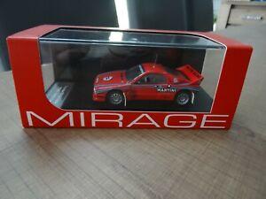 HPI-MIRAGE 1/43 LANCIA 037 TEST CAR 1985 N°8233 VERY RARE !!!