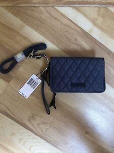 Vera Bradley 3-In-1 Crossbody RFiD Moonlight Navy Blue Phone Case Wallet NWT $95