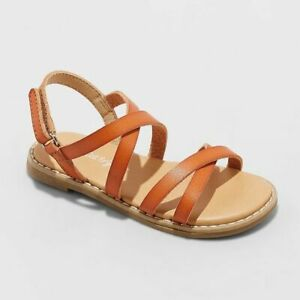 Toddler Girls' Mabyn Slide Sandals - Cat & Jack Cognac Size 7*