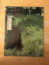 Psychology Today Magazine Death August 1970