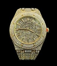 Captain Bling's Yellow Gold Diamond Finish Watch for Men, Early Christmas Sale.