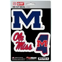 mississippi old ole miss rebels ncaa college team spirit car auto sticker set