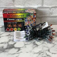 40 Christmas Tree Lights Flower Star Vintage Style Christmas Colored Lights