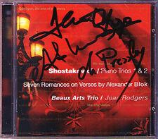 Beaux Arts Trio Daniel Hope Pressler signé Shostakovich CD Klaviertrio 1 & 2