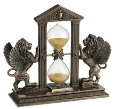 "8.25"" Winged Lion Hourglass Mythical Creature Home Fantasy Decor Animal"