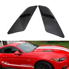 2pc For Ford Mustang 2015-2017 Black Air Intake Trim Panel installed on the Hood