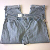 Style & Co Womens Plus Sedona Wash Curvy Capri Mid Rise Tummy Control Jeans Sz