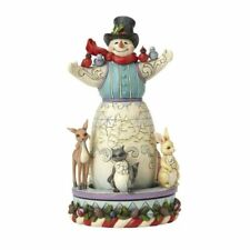 Jim Shore Kindness Warms The Winter Snowman With Rotating Animals 4056591