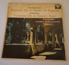 Decca SXL 2176 WBg ED1 Katchen Boult Rachmaninov Rhapsody On A Theme Of Paganini
