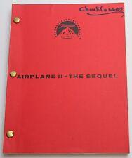 AIRPLANE II: THE SEQUEL / Ken Finkleman 1982 Screenplay, faulty space shuttle