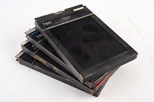 4 Vintage Fidelity 4x5 Cut Film Holder Cassette for Large Format Cameras V16